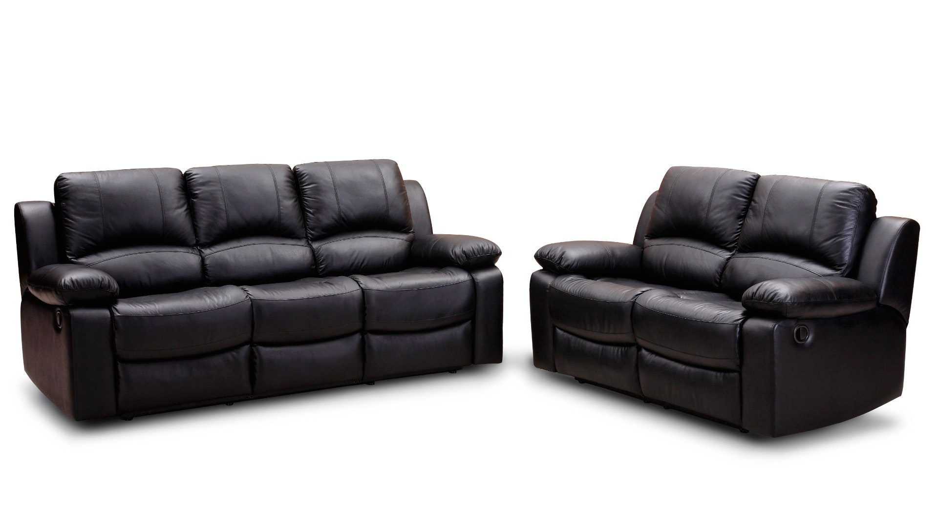 Black Leather Padded Cushion Couch Near To Black Leather Padded