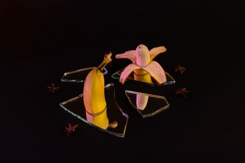 Free stock photo of art, banana, black