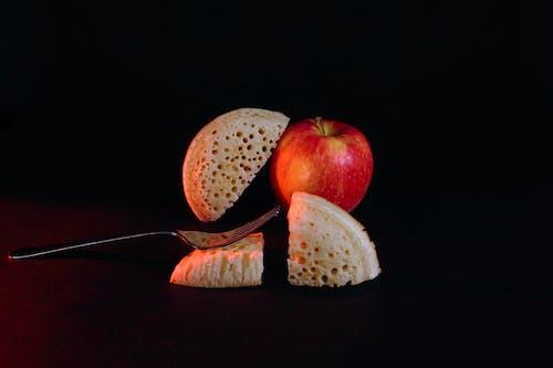 Free stock photo of apple, black, food