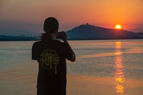 Free stock photo of coastline, sunset sky