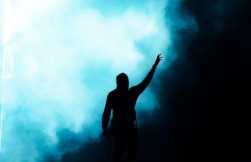 Fotos de stock gratuitas de alcanzar, anónimo, azul