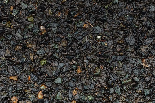 Black and Brown Stone Fragments