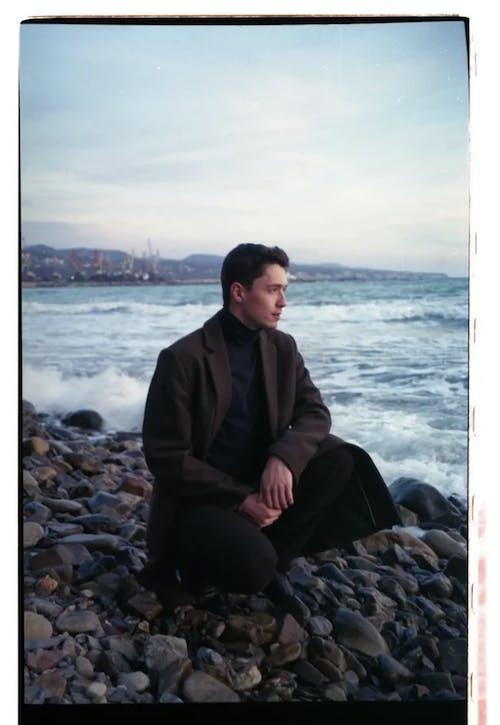 Free stock photo of 35mm film, adult, beach