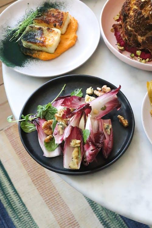 Foto profissional grátis de alface, alimento, almoço