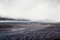glacier, snow, mountains