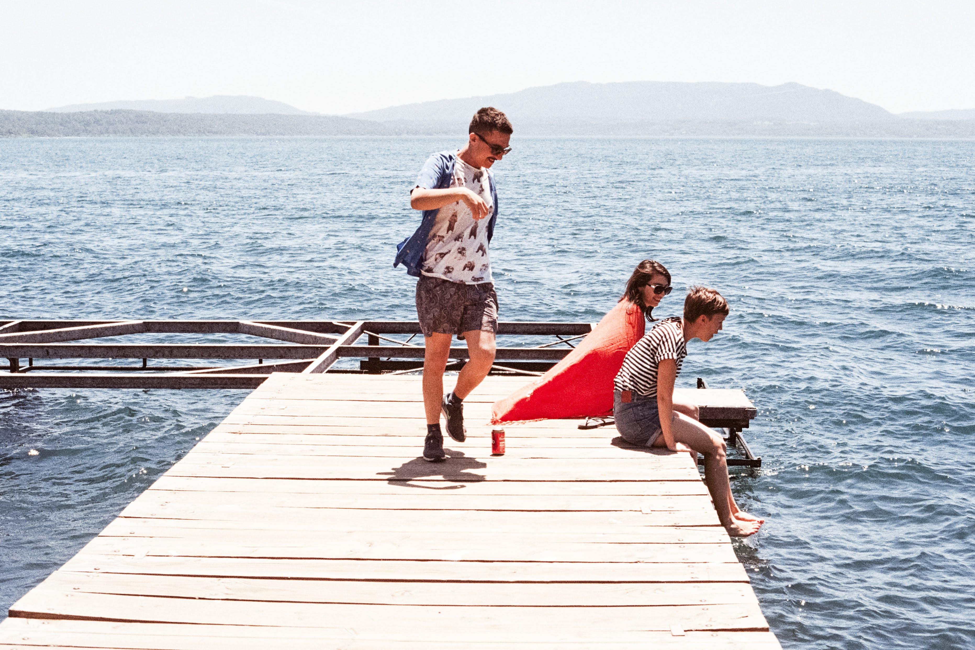 Wooden Boarded Pier Dock