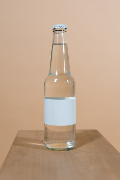 Free stock photo of apple, beer, blank screen, bottle