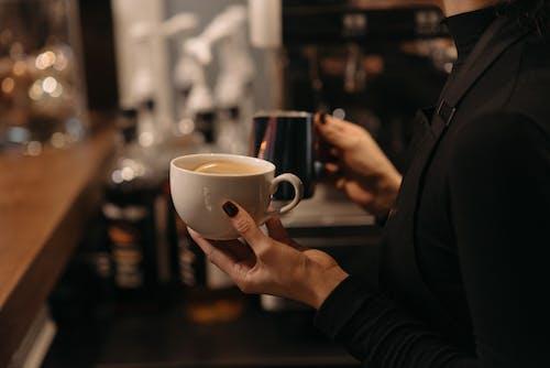 Kostnadsfri bild av americano, ånga, arbeta på ett kafé
