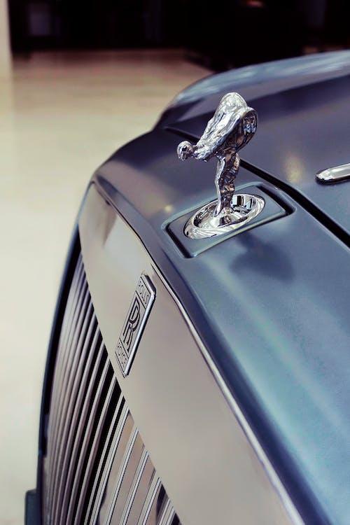 Silver Car With Silver Car Emblem
