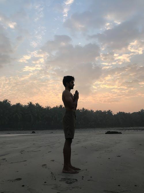 Free stock photo of morning, sunrise, yoga