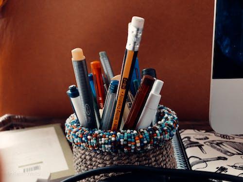 Free stock photo of art tools, creative, pencils
