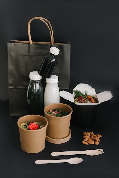 White and Brown Ceramic Jars