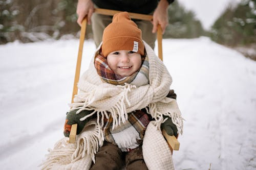 A Child Wearing Winter Clothes