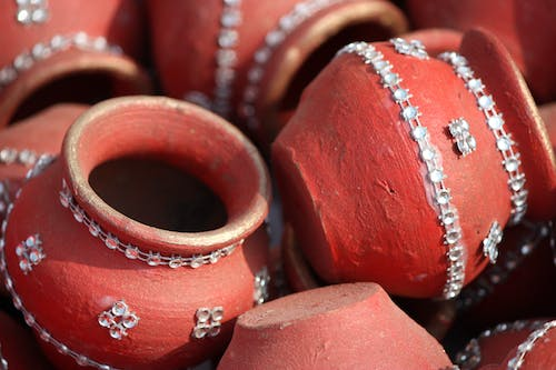 Free stock photo of festival, painted pots, red