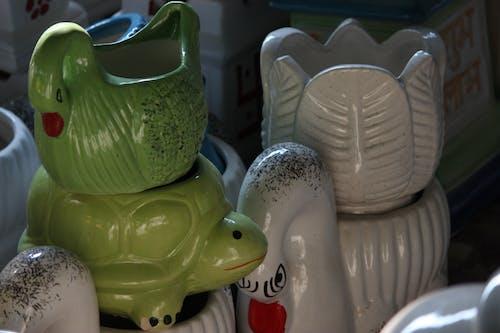 Free stock photo of ceramic pots, gardening, glazed