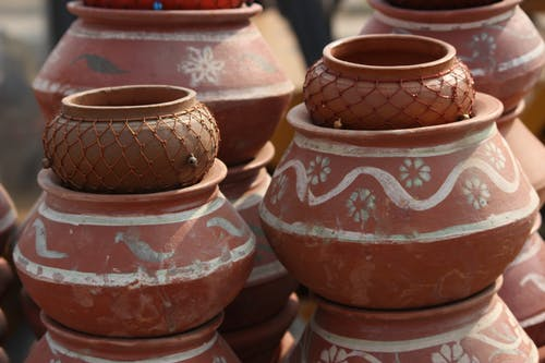 Free stock photo of clay pots, decoration, earthen pots