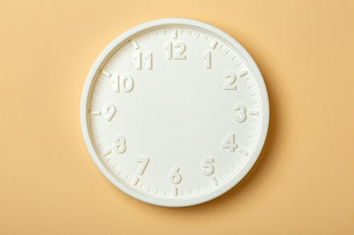 White Round Analog Wall Clock