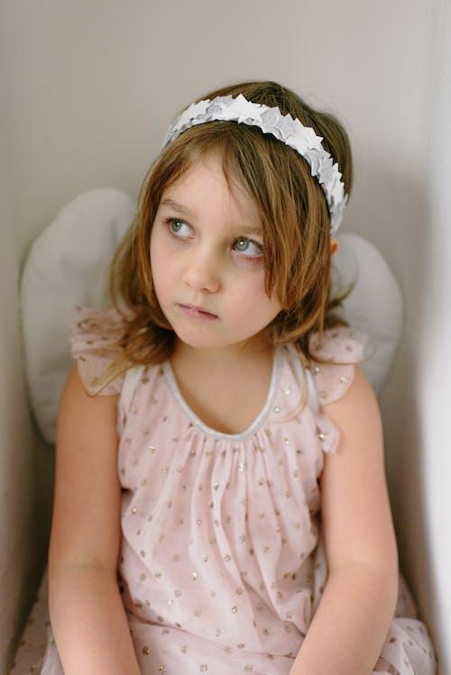 Free stock photo of blond, child, child wearing angel costume