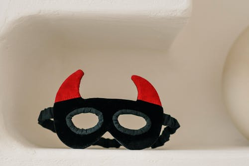 Black and Red Face Mask