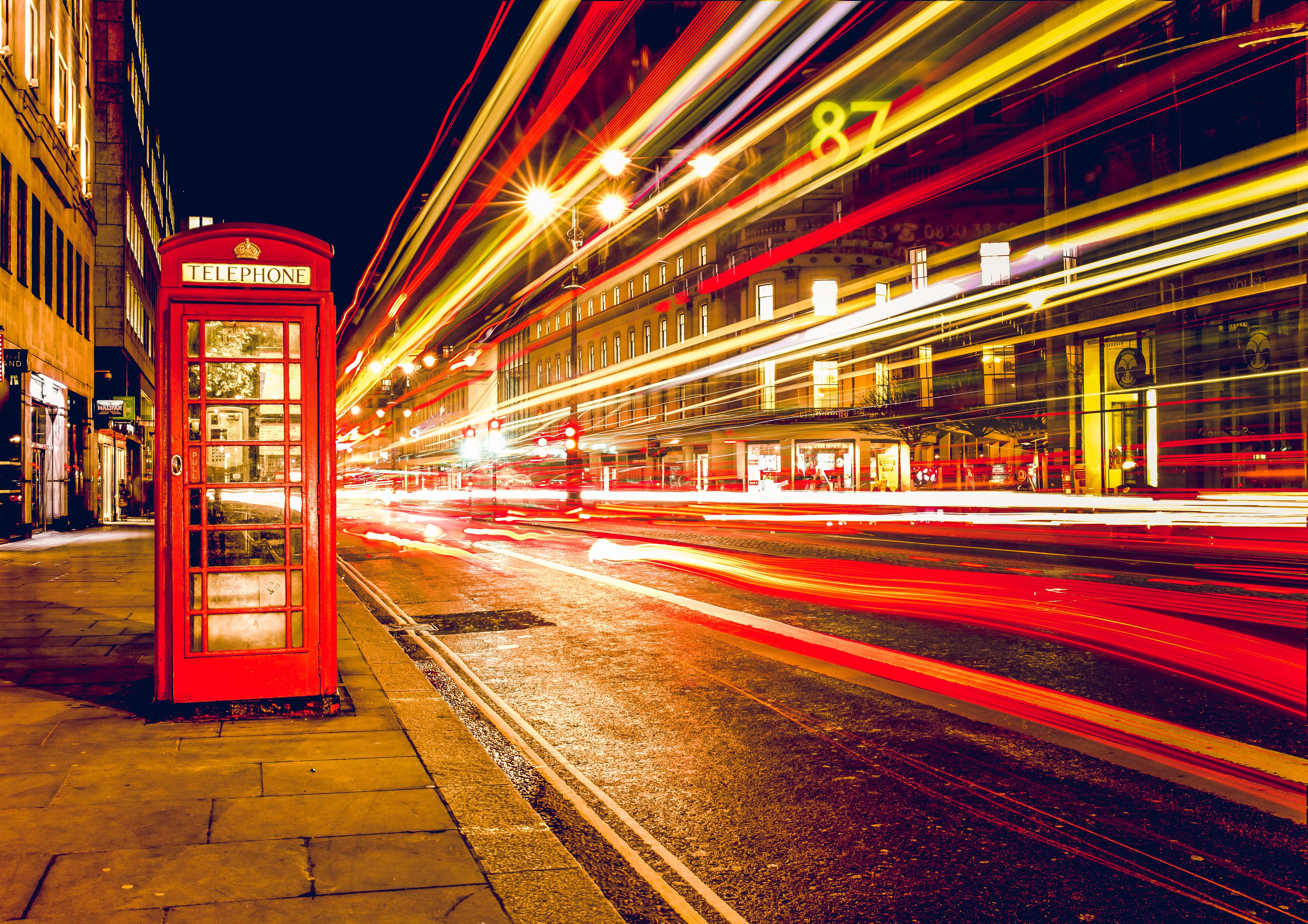 Time Lapse Photography of Phone Booth