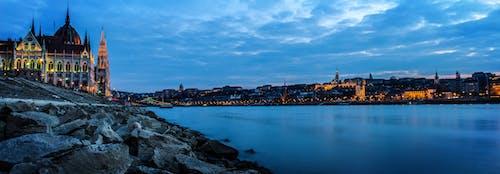 Foto stok gratis air, awan, berawan, Budapest