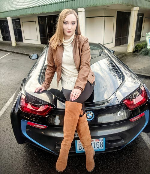 Free stock photo of beautiful girl, BMW, business style