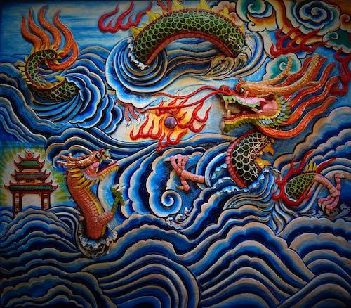 Fotos de stock gratuitas de Arte, chino, dragones, escultura