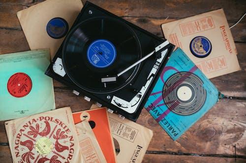 Photos gratuites de collection, disques vinyle, équipement