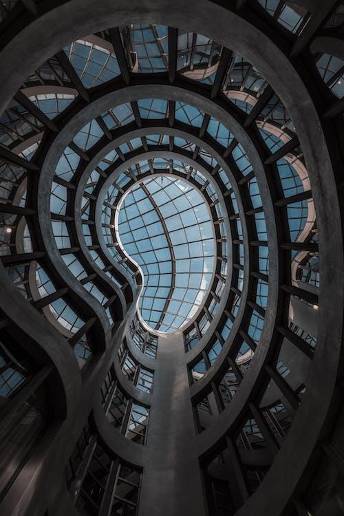 低角度視圖, 博物館, 圓形 的 免費圖庫相片