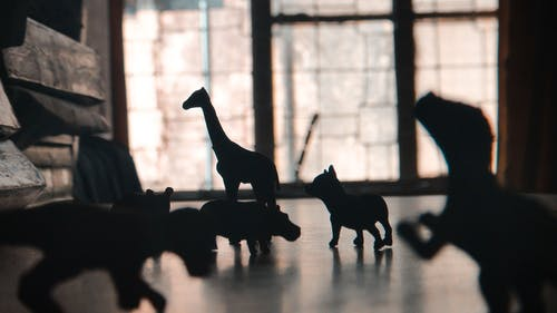 Silhouette of Animals Figurines Table Decor