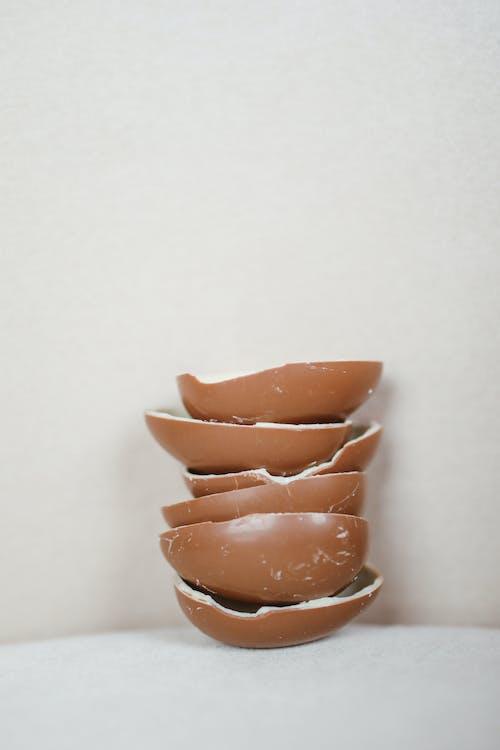 Brown Ceramic Bowl on White Table