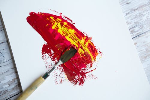 Red and Yellow Paint Brush