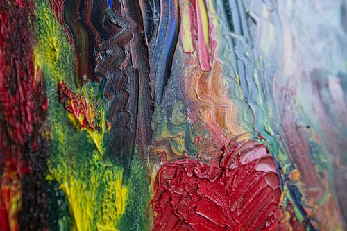 Red Blue and Green Abstract Painting