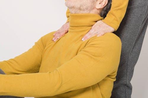 Man in Yellow Long Sleeve Shirt
