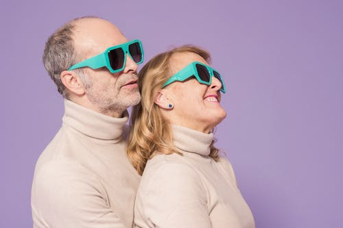 Elderly Couple Wearing Matching Outfit