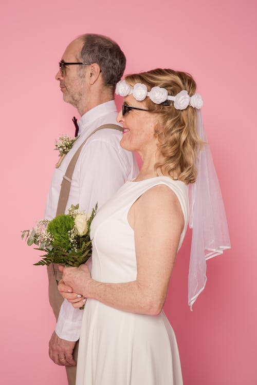 Elderly Couple Wearing Sunglasses