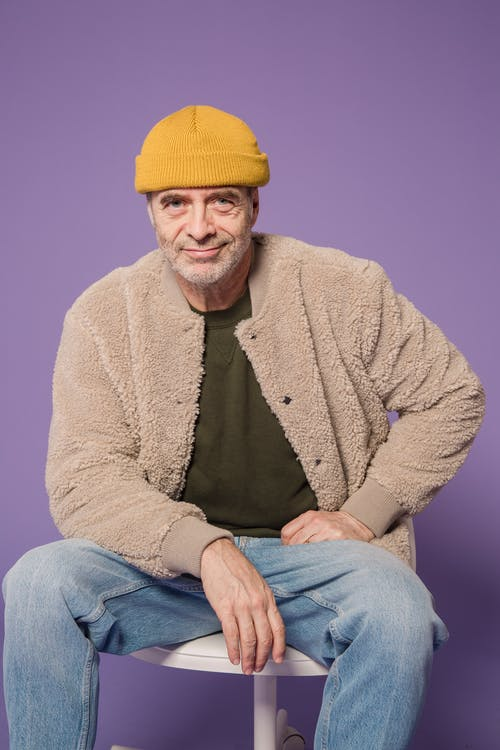 Man in Brown Jacket