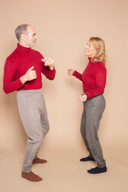 Couple Wearing Matching Outfit