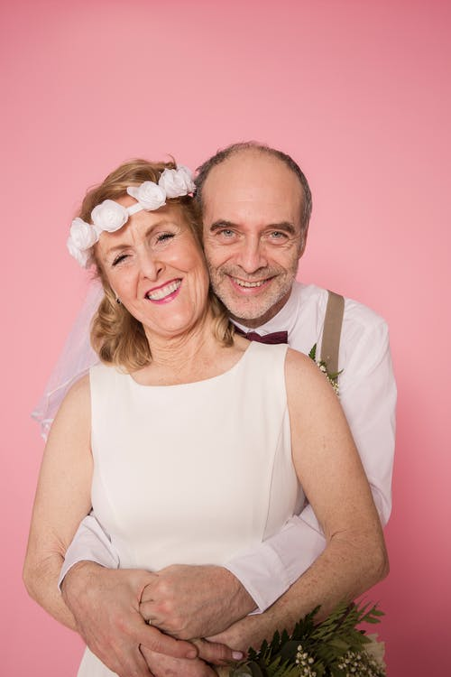 Elderly Couple Happily Married