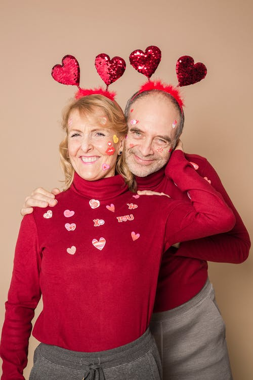 Elderly Couple Wearing Couple Outfit