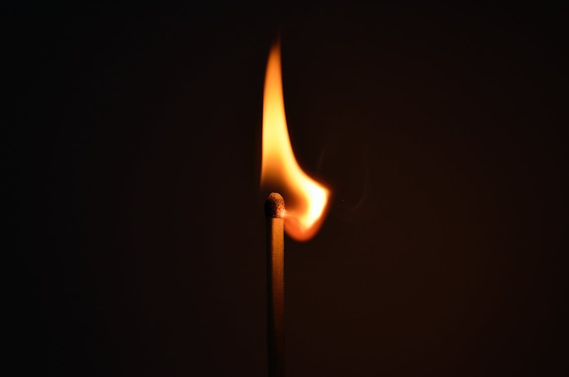 Lighted Burning Match