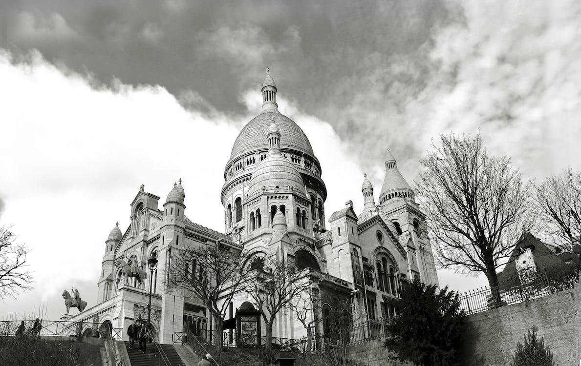 ancien, architecture, Basilique du Sacré-Cœur de Paris