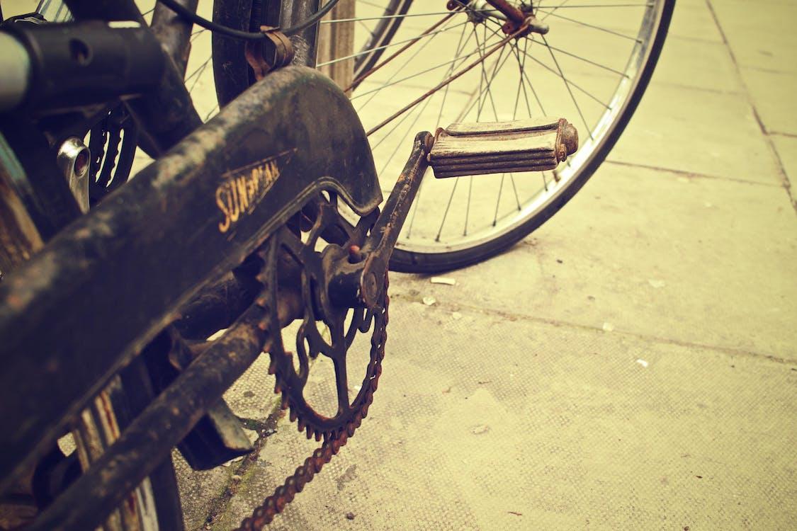 potłuczony, rdza, rower