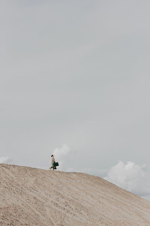 Gratis lagerfoto af bagage, gold, grå himmel