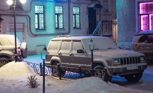 Free stock photo of machine, neon, snow covered