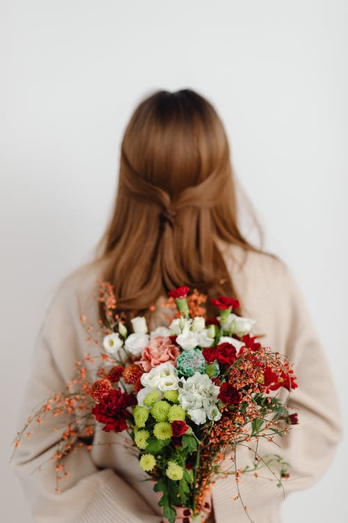 Free stock photo of bouquet, bride, christmas