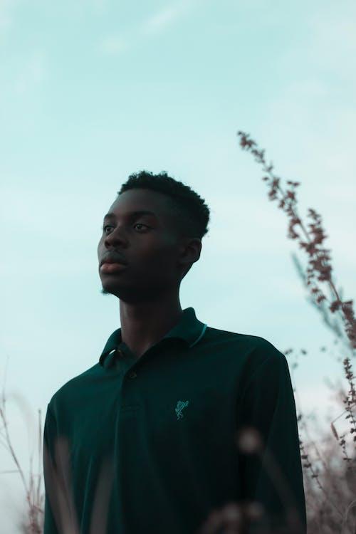 Man in Green Polo Shirt