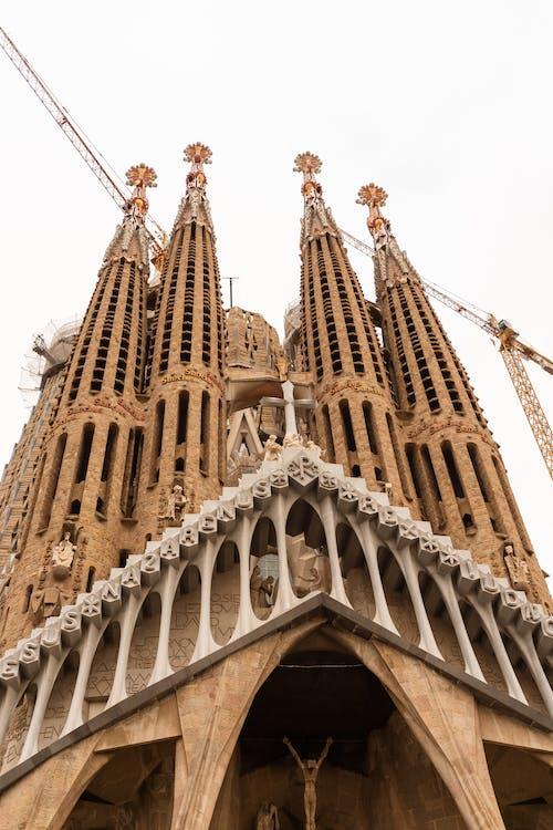 Facade of Sagrada Familia church