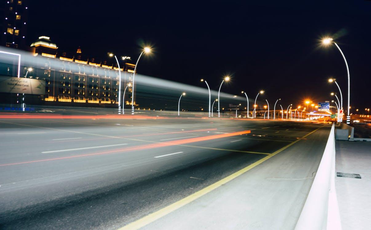 asfalto, autostrada, centro città