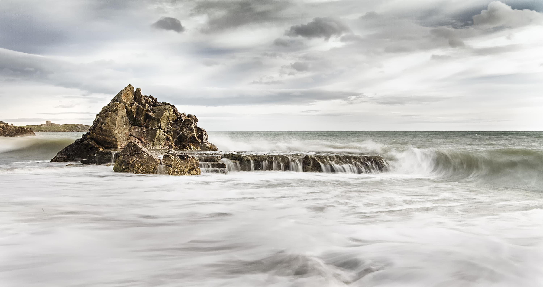 cliff, coast, HD wallpaper